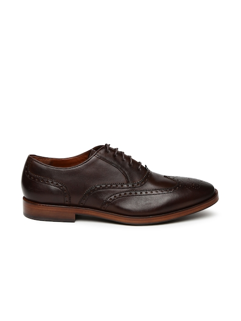 Cole Haan Men Coffee Brown Hamilton Grand Wing Ox Leather Brogues