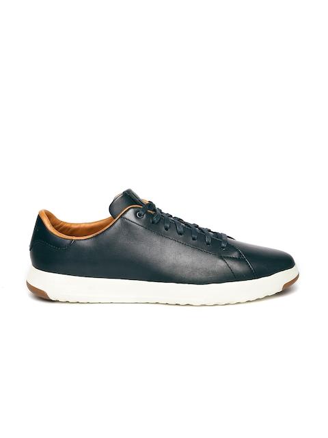Cole Haan Men Navy Leather Sneakers