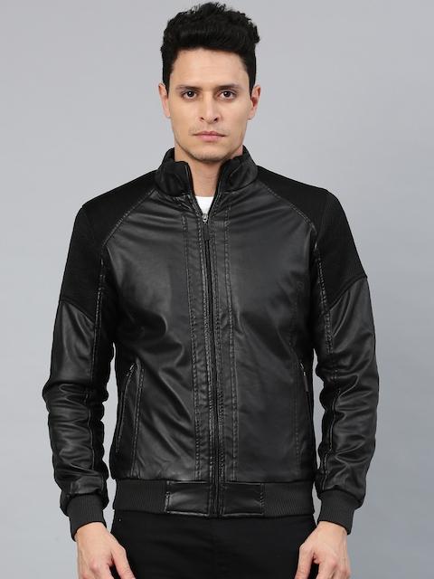 HRX by Hrithik Roshan Men Black Solid Bomber Jacket