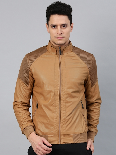 HRX by Hrithik Roshan Men Tan Brown Solid Bomber Jacket