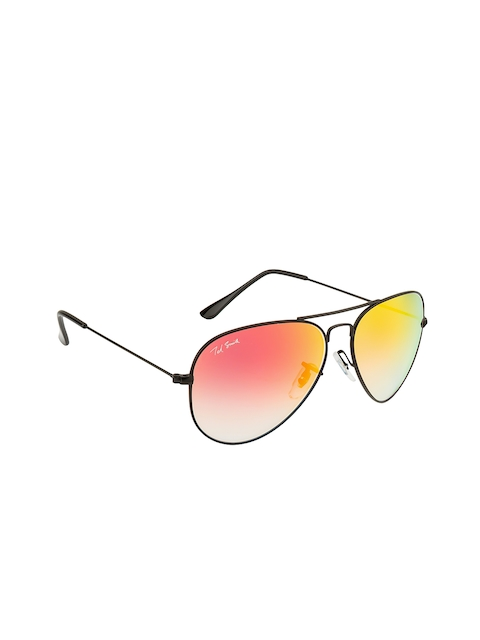 Ted Smith Unisex Mirrored Aviator Sunglasses TS3025