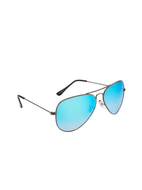 Ted Smith Unisex Mirrored Aviator Sunglasses TS3025_C18
