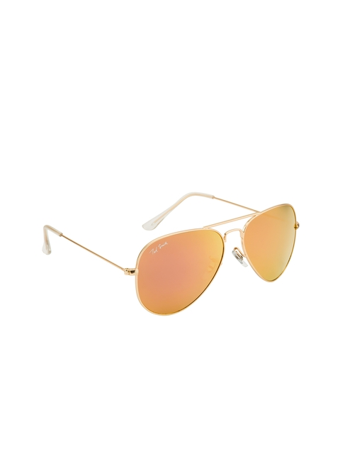 Ted Smith Unisex Mirrored Aviator Sunglasses TS3025_C7