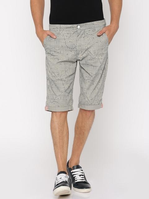 Lee Men Grey Printed Slim Fit Chino Shorts