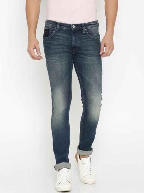 Lee Men Navy Luke Skinny Fit Stretchable Jeans