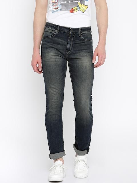 Lee Men Dark Blue Macky Fit Stretchable Jeans