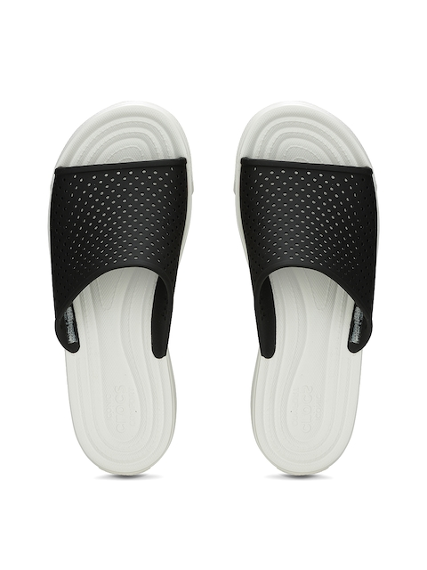 Crocs Men Black & White Flip-Flops