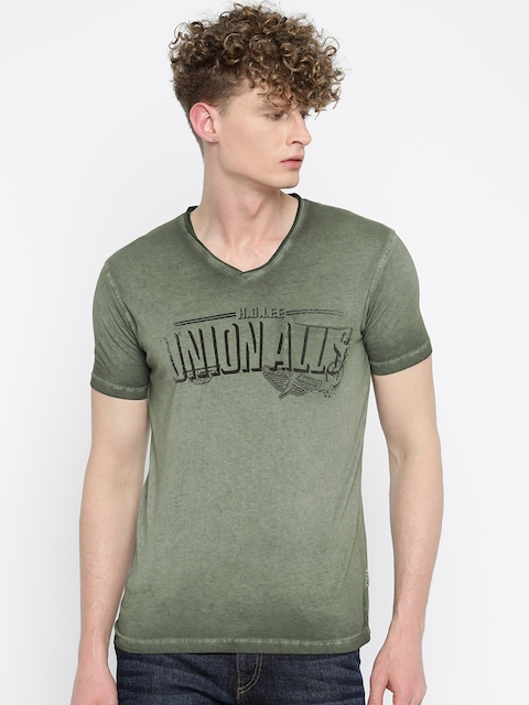 Lee Olive Printed T-shirt