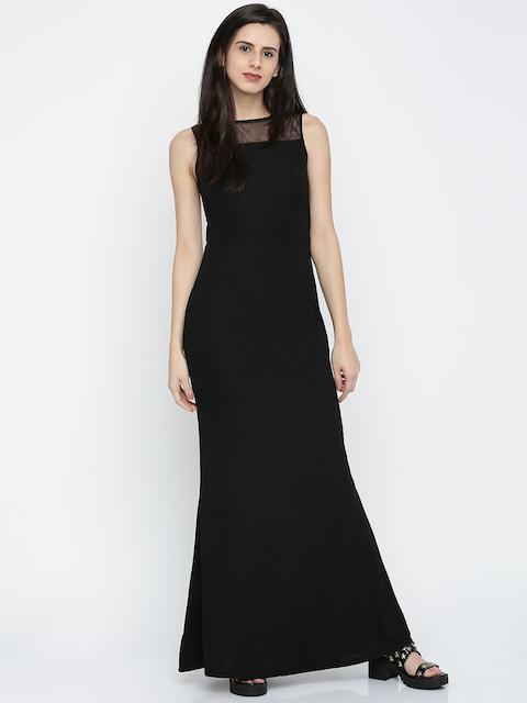 AND Women Black Self-Design Maxi Dress