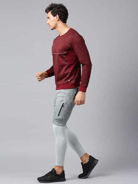 HRX Active by Hrithik Roshan Men Grey Melange Sports Shorts with Compression Tights  available at myntra for Rs.849