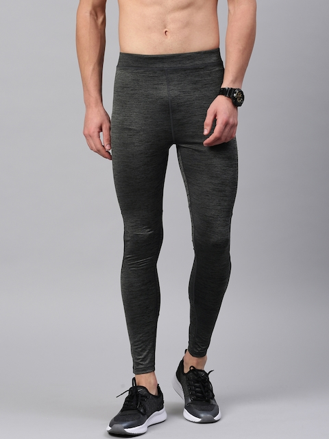 HRX Active by Hrithik Roshan Men Grey Rapid-Dry Compression RAPID-DRY Tights