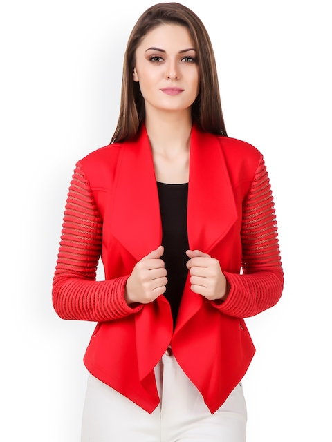 Texco Red Lightweight Front Open Jacket