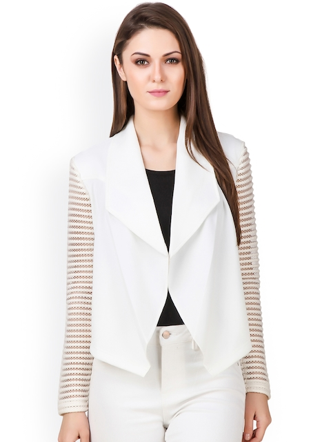 Texco White Lightweight Front Open Jacket