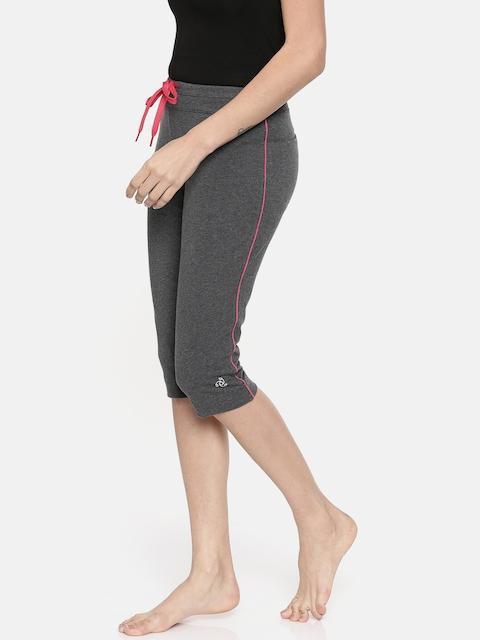 Jockey Women Charcoal Grey Solid Lounge Capris 1390-0105-CM-RB