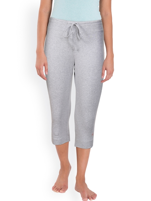 Jockey Grey Melange Solid Capris