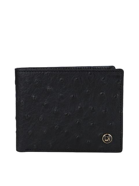 Da Milano Men Black Textured Leather Wallet