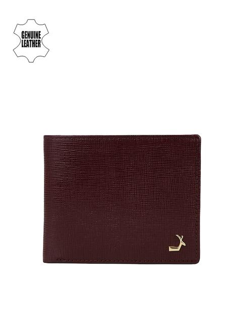 Da Milano Men BrownTextured Leather Wallet