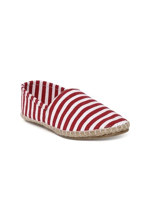 Bruno Manetti Women Red & White Striped Espadrilles