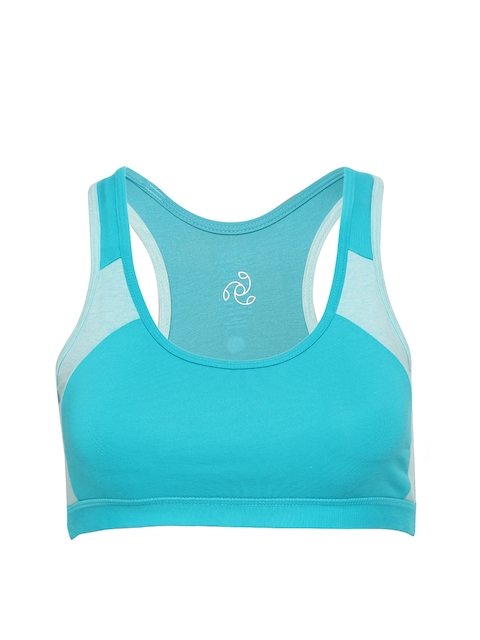 Jockey Green Solid Non-Wired Lightly Padded Sports Bra