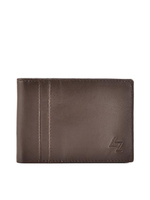 Leather Zentrum Men Brown Solid Two Fold Wallet