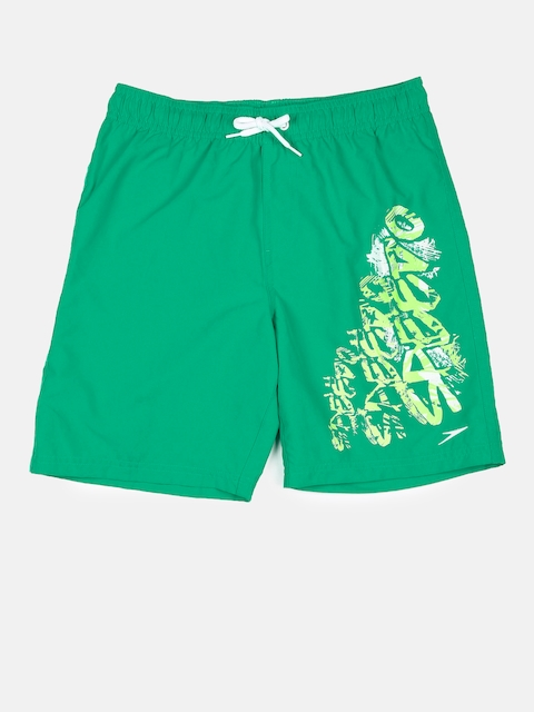 Speedo Boys Green Printed Swim Shorts 8078589367