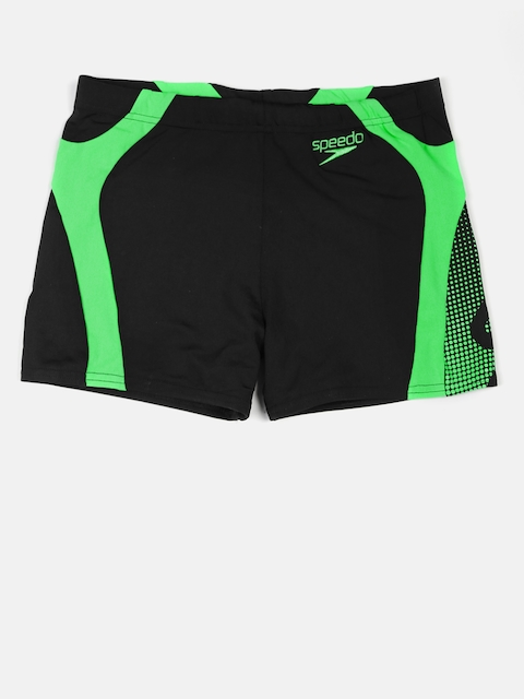 Speedo Men Black Printed Swim Shorts 8090299690