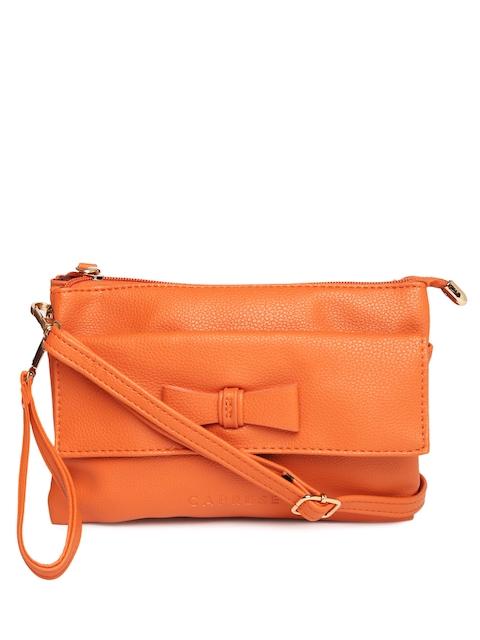 Caprese Orange Solid Sling Bag