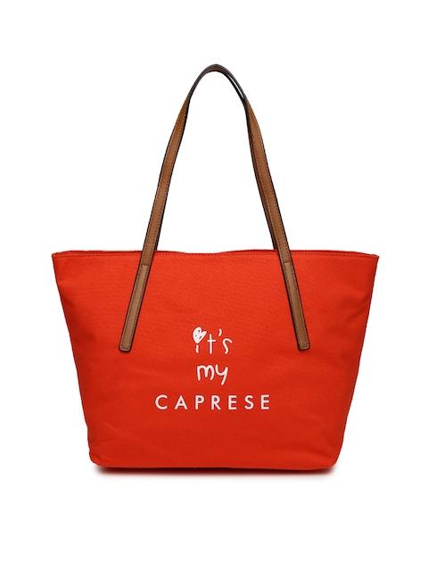 Caprese Orange Printed Shoulder Bag