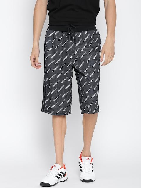 Adidas NEO Men Charcoal Grey FR Q2 3/4th Printed Track Pants