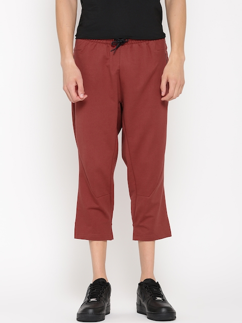 Adidas Men Rust Red Yogi 3/4th Track Pants
