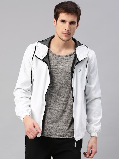 HRX by Hrithik Roshan Men Off-White Solid Jacket