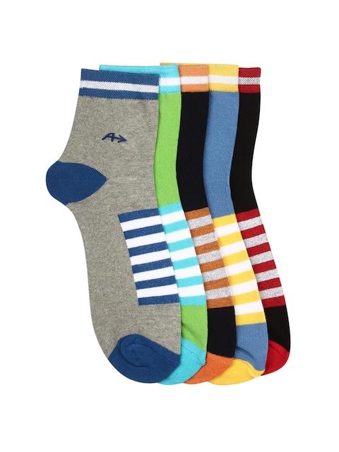 Arrow Men Pack of 5 Striped Ankle-Length Socks