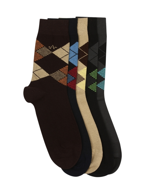 Arrow Men Pack of 5 Patterned Above Ankle-Length Socks