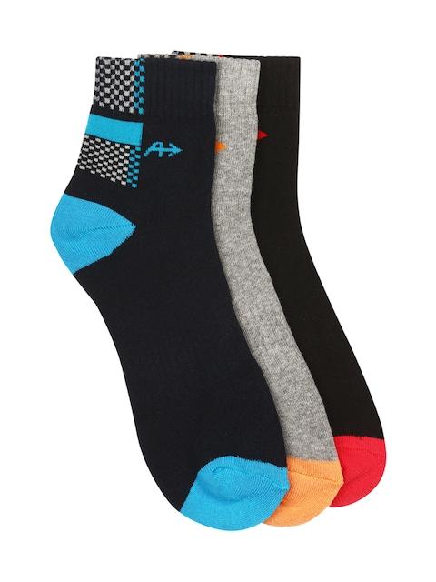 Arrow Men Pack of 3 Patterned Ankle-Length Socks