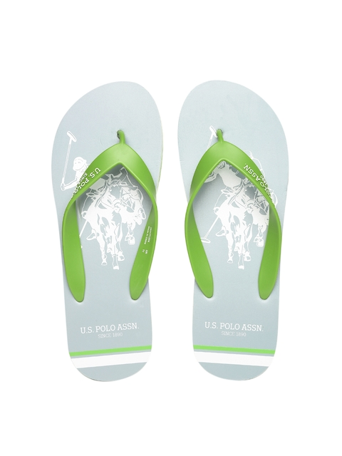 U.S. Polo Assn. Men Green & Grey Flip-Flops