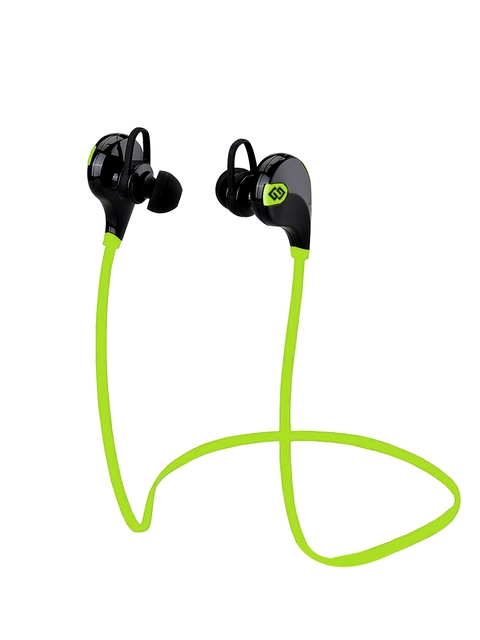 TAGG T-07 Green & Black Wireless Sports Sweatproof Bluetooth Headset with Mic
