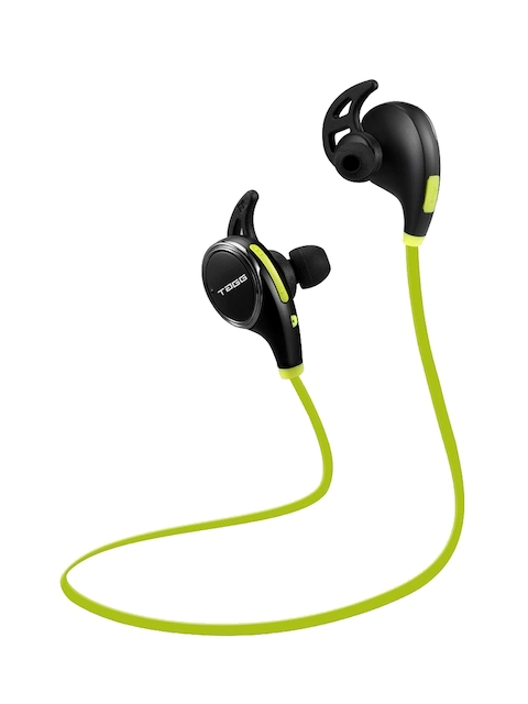 TAGG T-08 Black & Lime Green Wireless Sports Bluetooth Headset