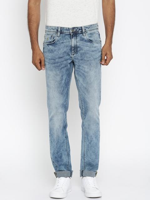 Indian Terrain Men Blue Slim Fit Stretchable Jeans