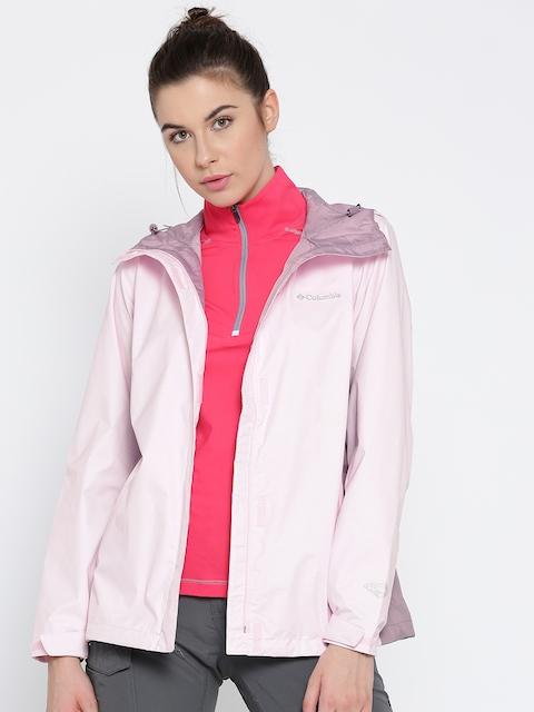 Columbia Pink Arcadia II Outdoor Rain Jacket