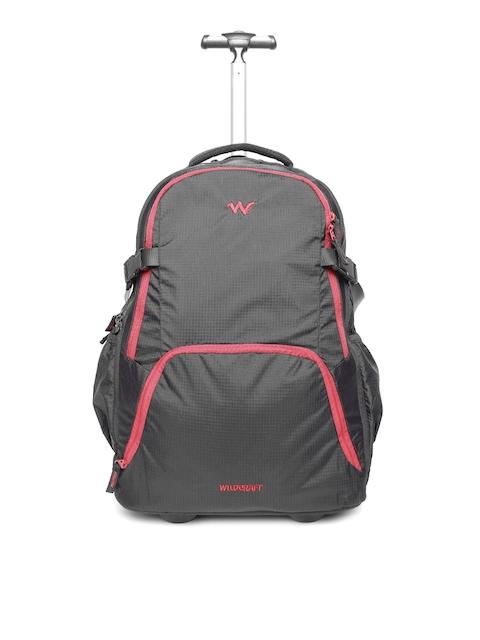 Wildcraft Unisex Black Voyager 20 Trolley Backpack