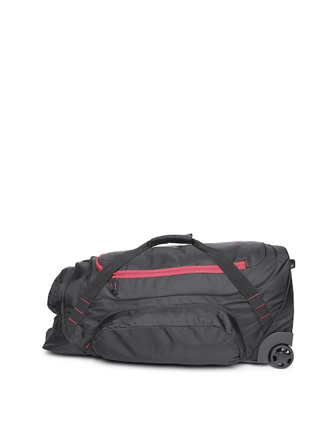 Wildcraft Unisex Black Voyager 26 Trolley Duffel Bag