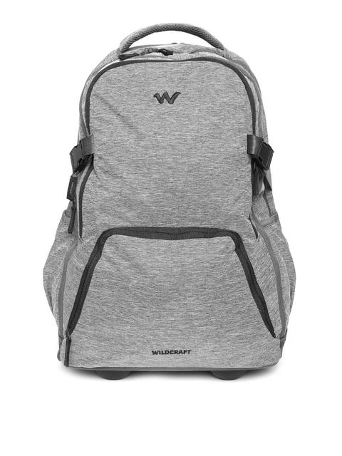 Wildcraft Unisex Grey Melange Voyager 20 Trolley Backpack