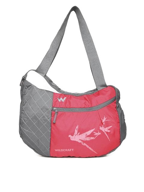 Wildcraft Unisex Pink & Grey Hobo L Printed Messenger Bag