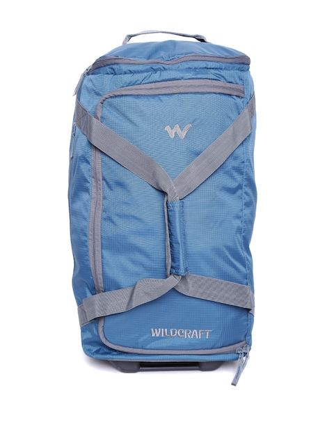 Wildcraft Unisex Blue Voyager 22 Self-Checked Trolley Duffel Bag