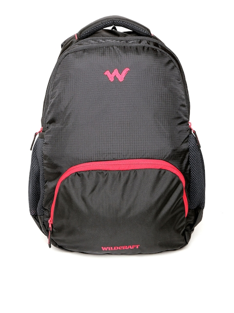Wildcraft Unisex Black Traverse Solid Backpack
