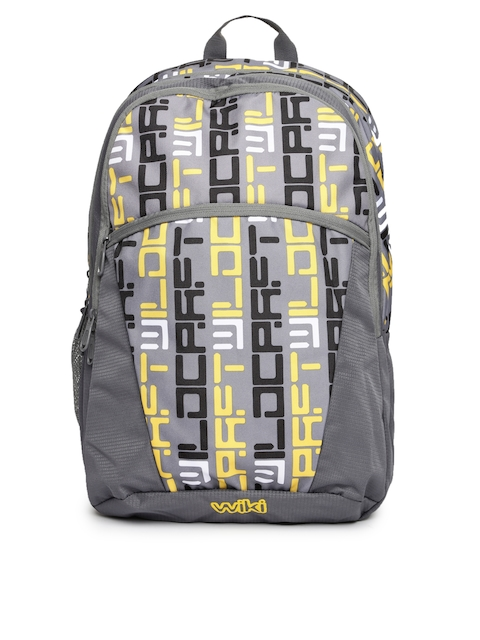 Wildcraft Unisex Grey & Yellow Fossil Wiki Backpack
