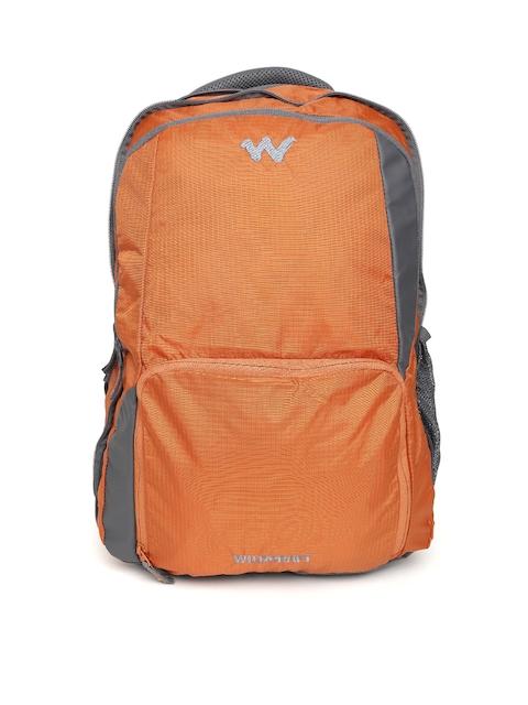 Wildcraft Unisex Orange Solid Backpack