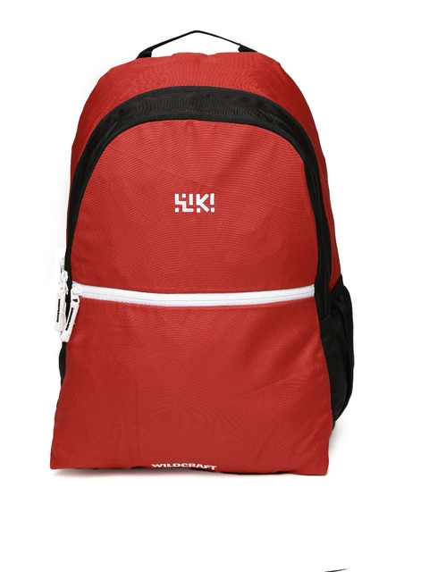 Wiki by Wildcraft Unisex Red & Black Backpack
