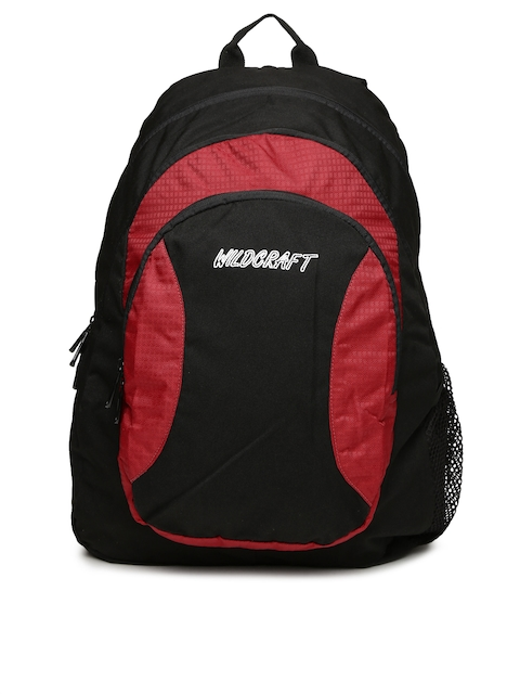 Wildcraft Unisex Red & Black Backpack