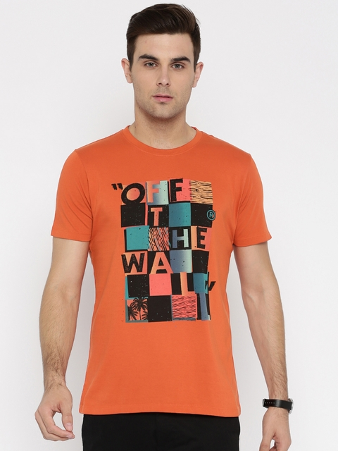 Vans Men Rust Red Printed Round Neck T-shirt  available at myntra for Rs.519